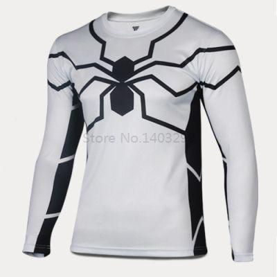 Sport moda Camisetas Moda camisa y Batman ropa De Jersey spiderman Man camiseta de américa en capitán de Iron Avengers hombres larga héroes la manga de gn1p47