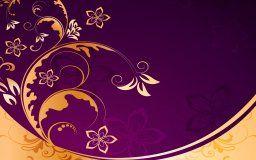 teste padrão floral textura dourada do fundo do vintage padrão de flor