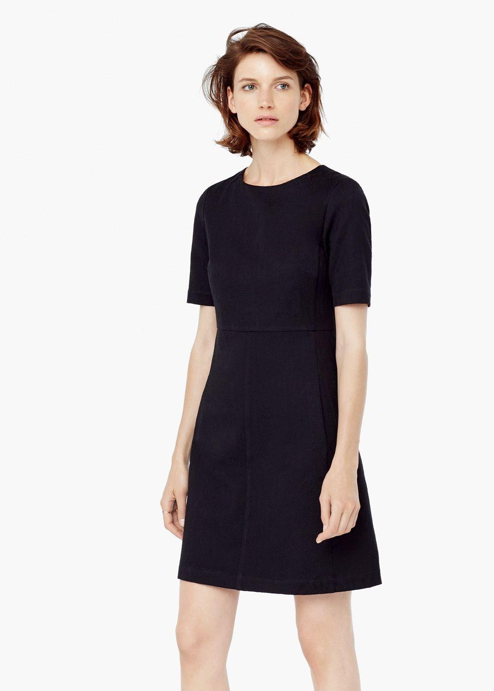 Strukturiertes baumwollkleid - Kleider für Damen | OUTLET ...