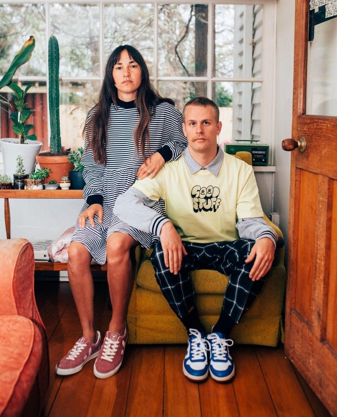 b997a53be9a1 Family portrait with our V-10 B-mesh White Indigo and Esplar Suede Dried