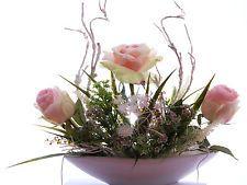 Seidenblumengesteck Kunstblumengesteck Kunstblumen Arrangemen mit Rosen Deko