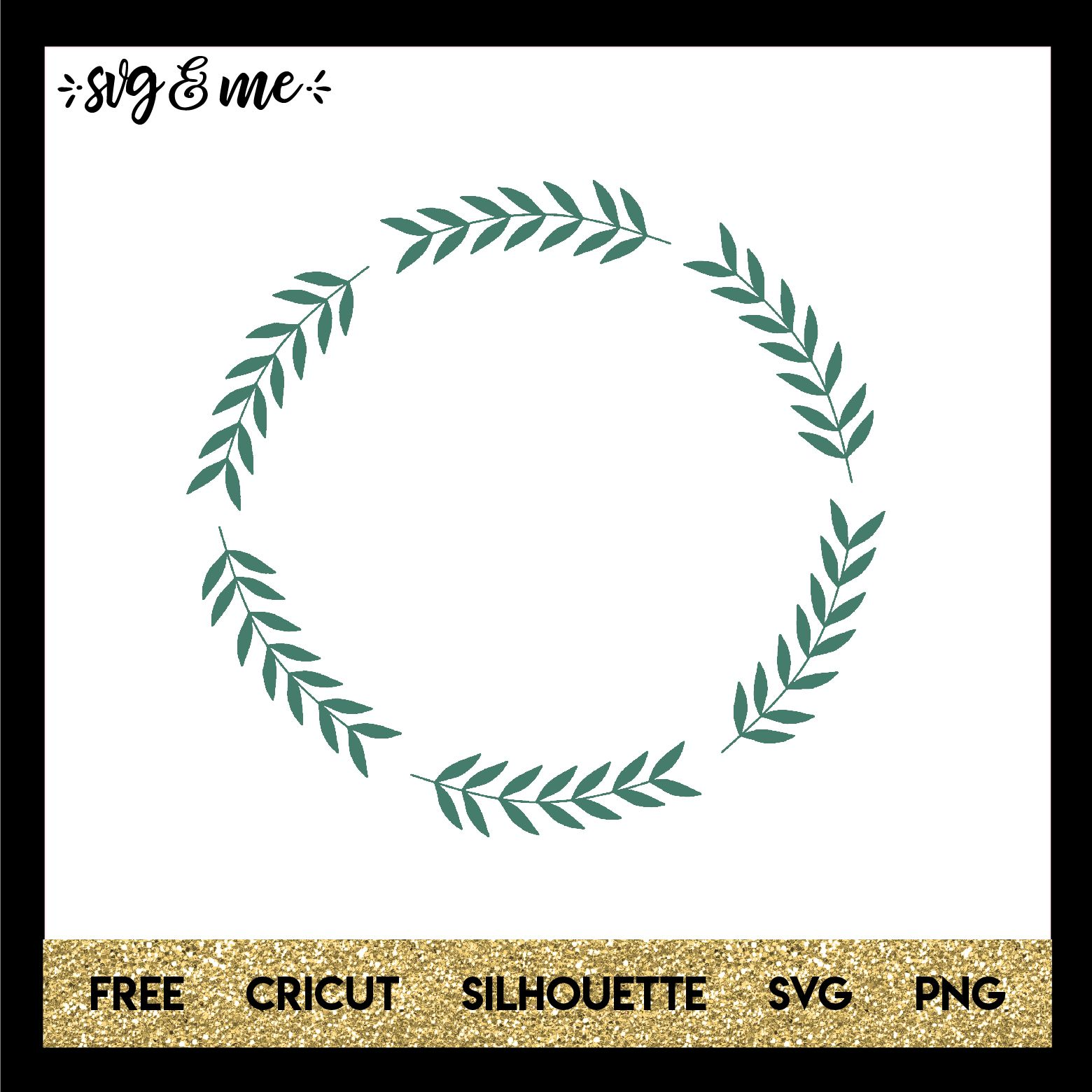 Laurel Wreath Cricut monogram, Svg files for cricut, Cricut