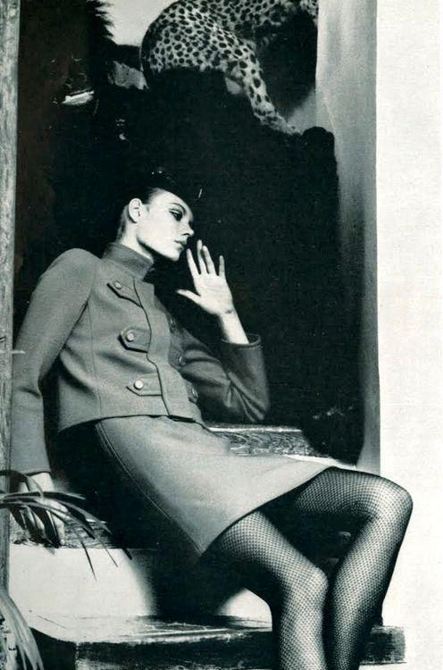by Helmut Newton for Yves Saint Laurent, 1966.