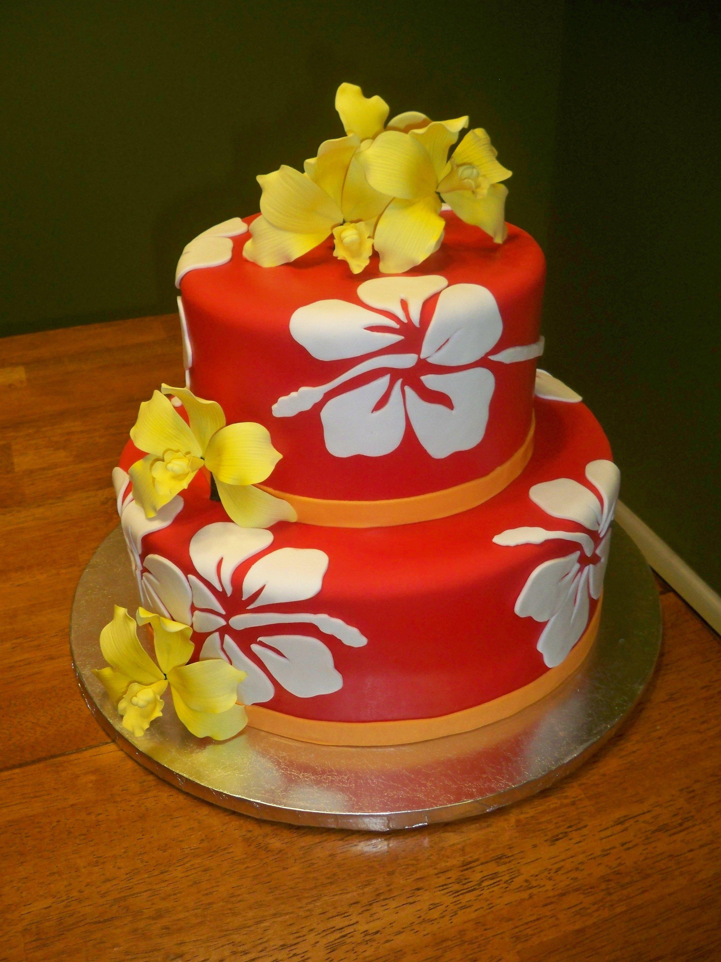 Hawaiian Cake wwwcontemporarycakerycom My Cakes Pinterest