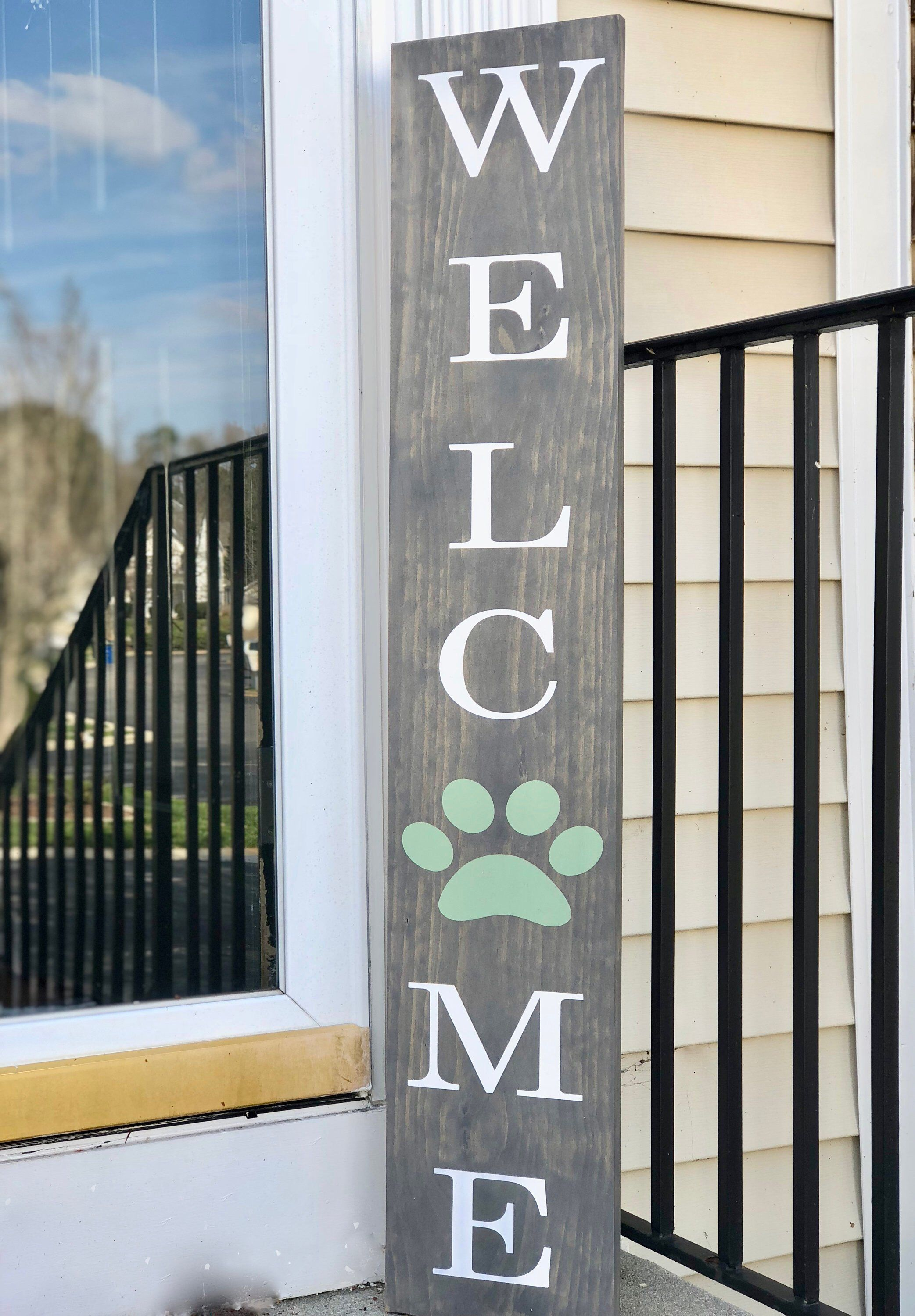 Large Front Porch Sign Welcome Customized Front Porch Sign Etsy Wooden Welcome Signs Welcome Signs Front Door Porch Signs
