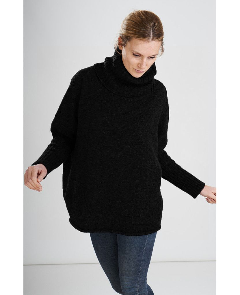 bibico-black-adela-oversized-jumper-fair-trade-clothing | kuşam ...