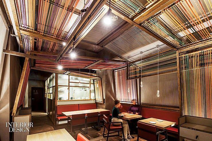 Interior Design Magazine A Pine Canopy With Vibrant Cotton Yarn