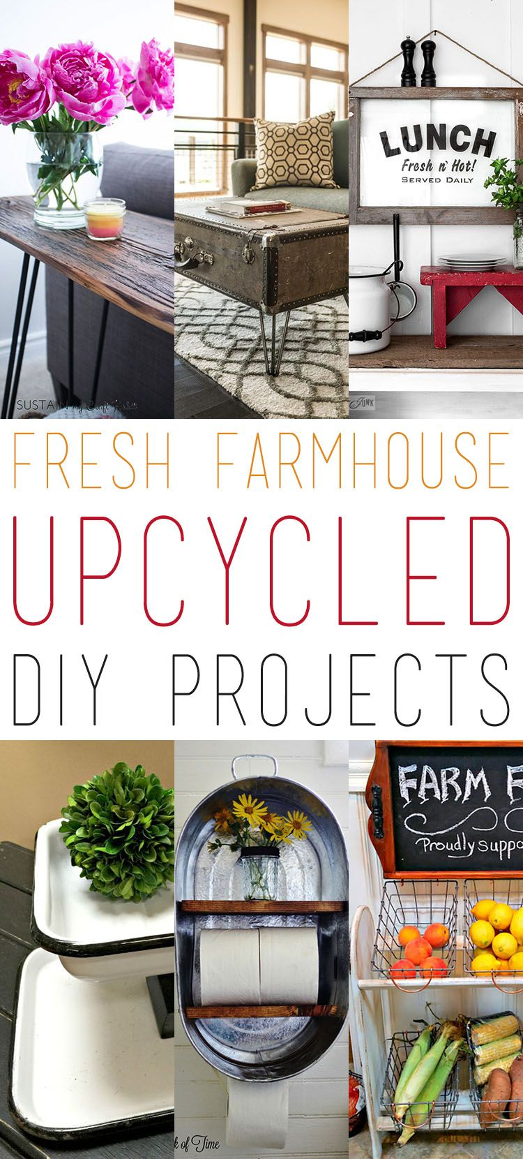 Fresh Farmhouse Upcycled DIY Projects The
