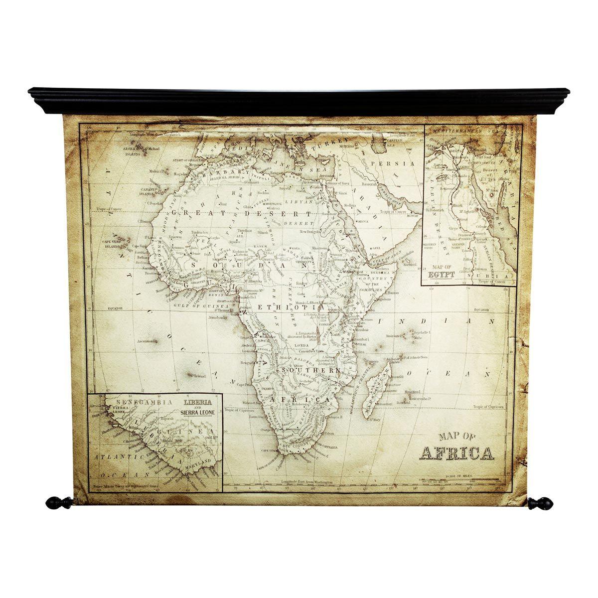 Miroir carte Afrique