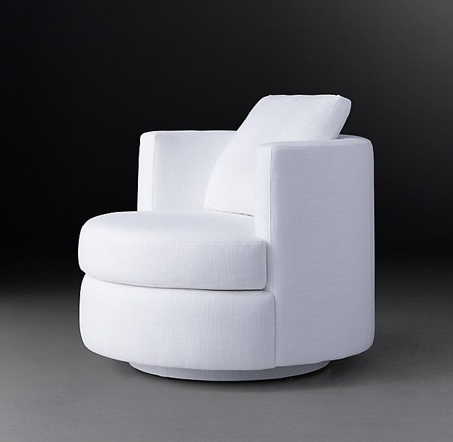 swivel chair definition blames high cushion rh s wren fabric defined by soft curves and compact proportions our