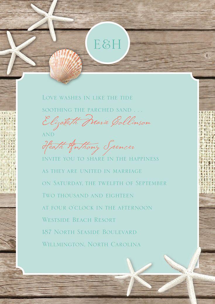a cheap beach wedding invitation that looks like a million bucks thick paper beautiful - Beach Wedding Invitations Cheap