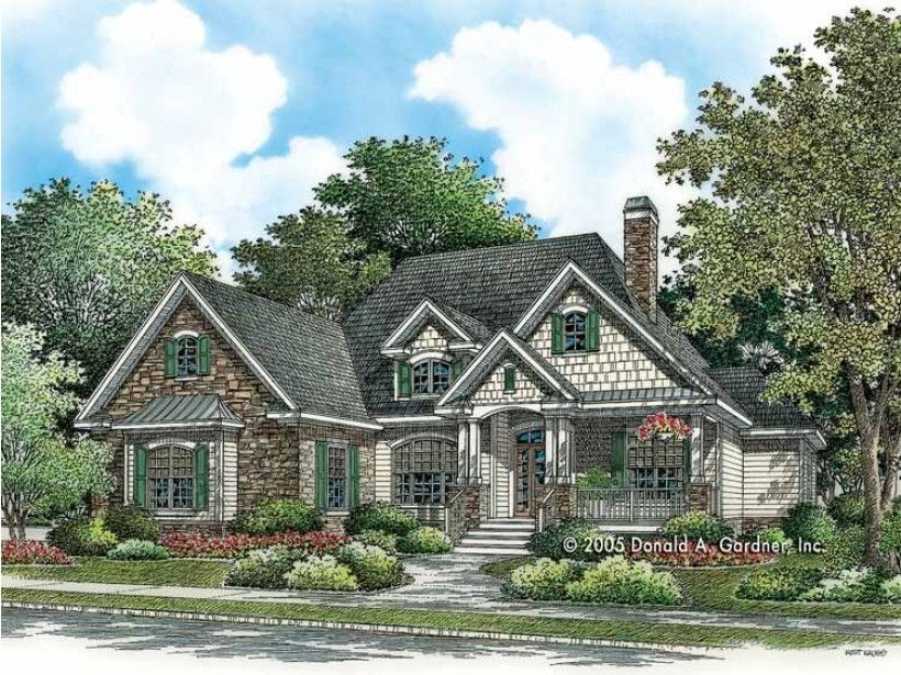 Craftsman Style House Plan 4 Beds 2 Baths 2048 Sq Ft Plan 929 783 Craftsman House Plans Craftsman Style House Plans Beautiful House Plans