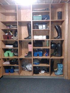Really Like The Cubby Idea For A Small Tack Room Tack Room Organization Horse Tack Rooms Tack Room