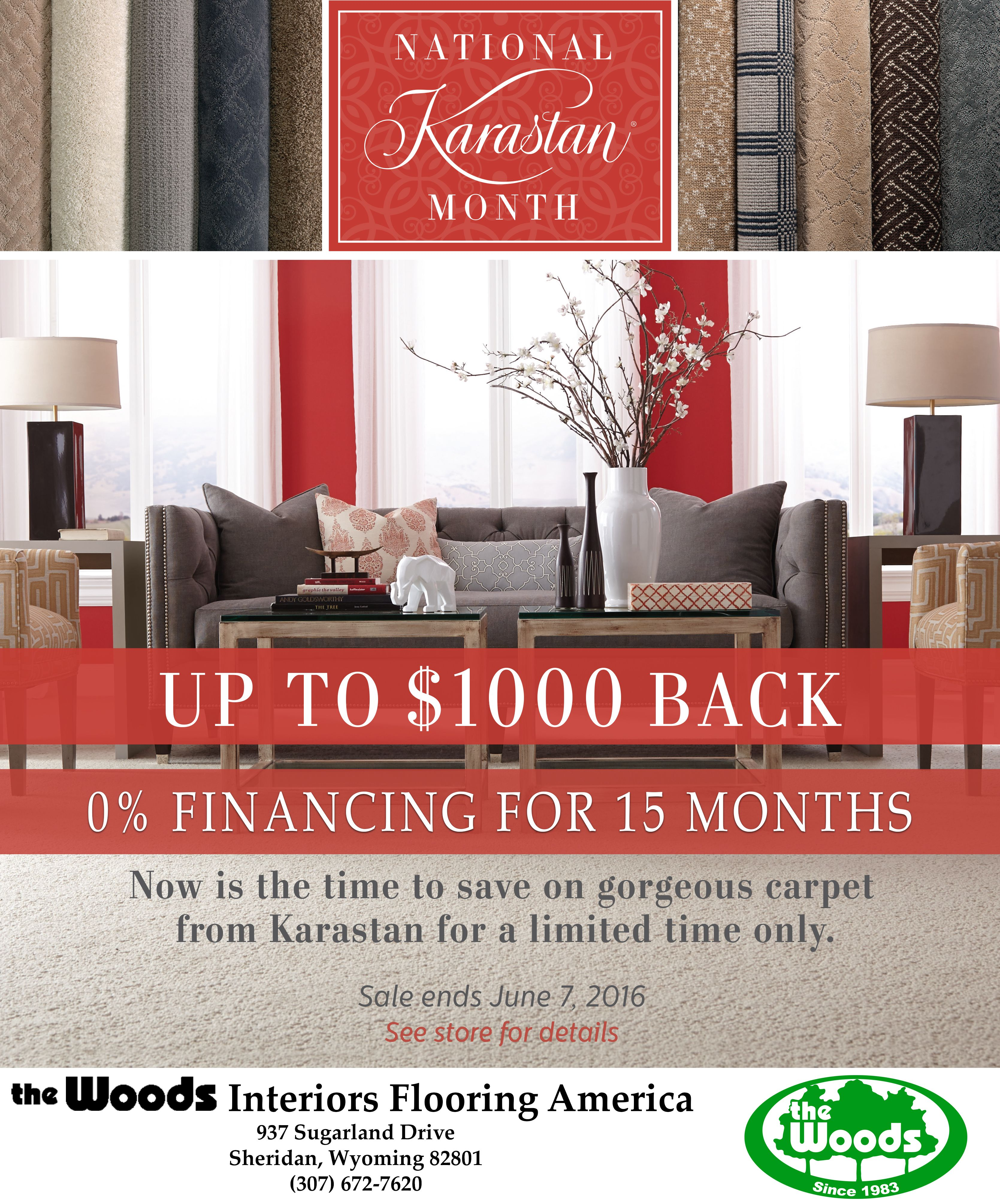 Come Into The Woods Interiors At 937 Sugarland Drive And Take Advantage Of National Karastan Month Enjoy 0 Financing F Wood Interiors Interior Floor Interior