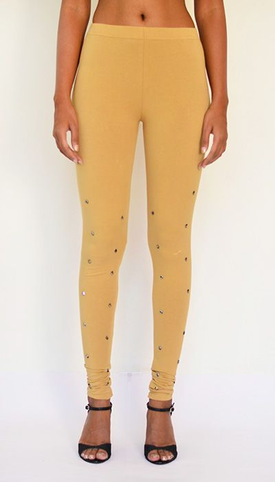 """Studded Leggings"" Cotton & Lycra Leggings – Full Length. Pick Yours at https://www.estrolo.com/product-category/women/leggings/ #BegiLeggings #StylishLeggings #NewLeggingColeection #estroloFashion"