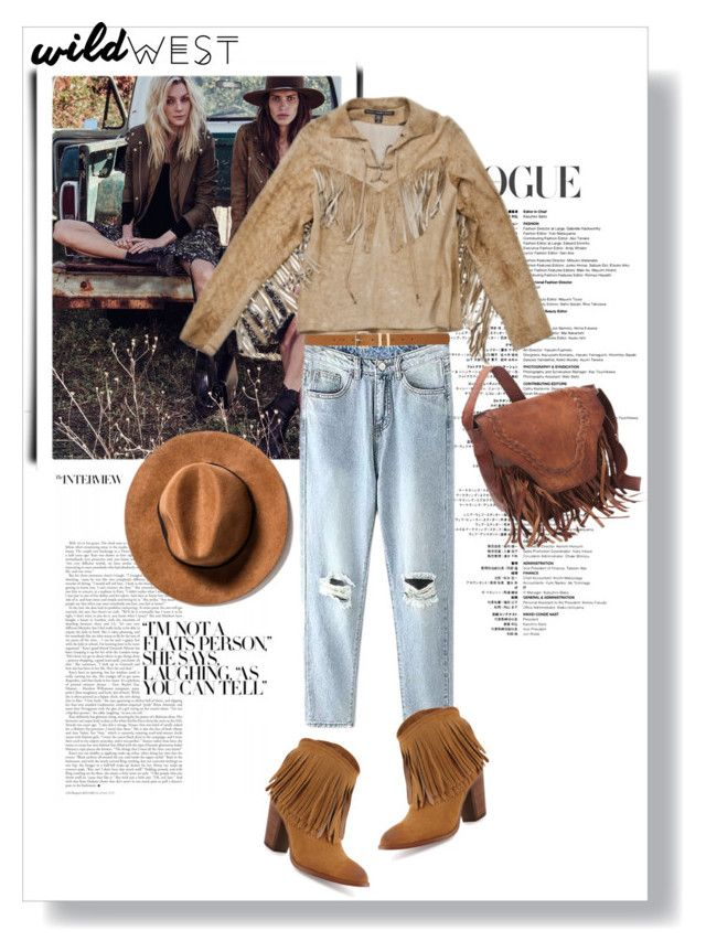 """Untitled #108"" by jade-714 ❤ liked on Polyvore featuring Polo Ralph Lauren, M&Co, Frye and wildwest"