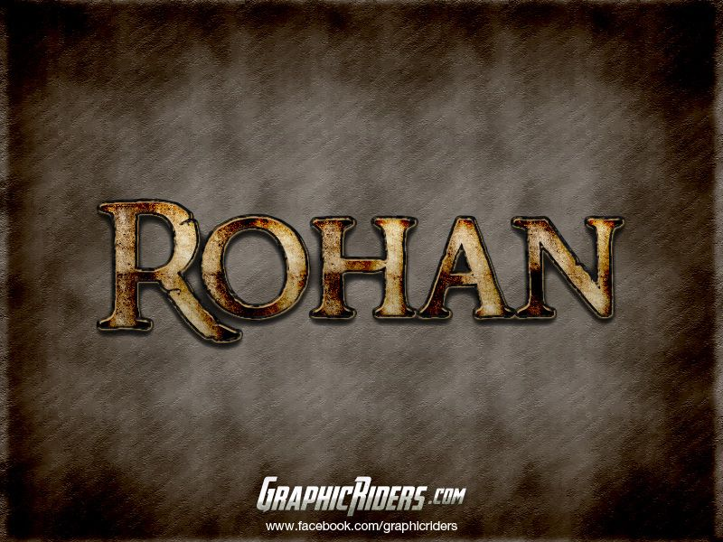 Fantasy style – Rohan (free photoshop layer style, text effect, free psd file)  #graphicriders