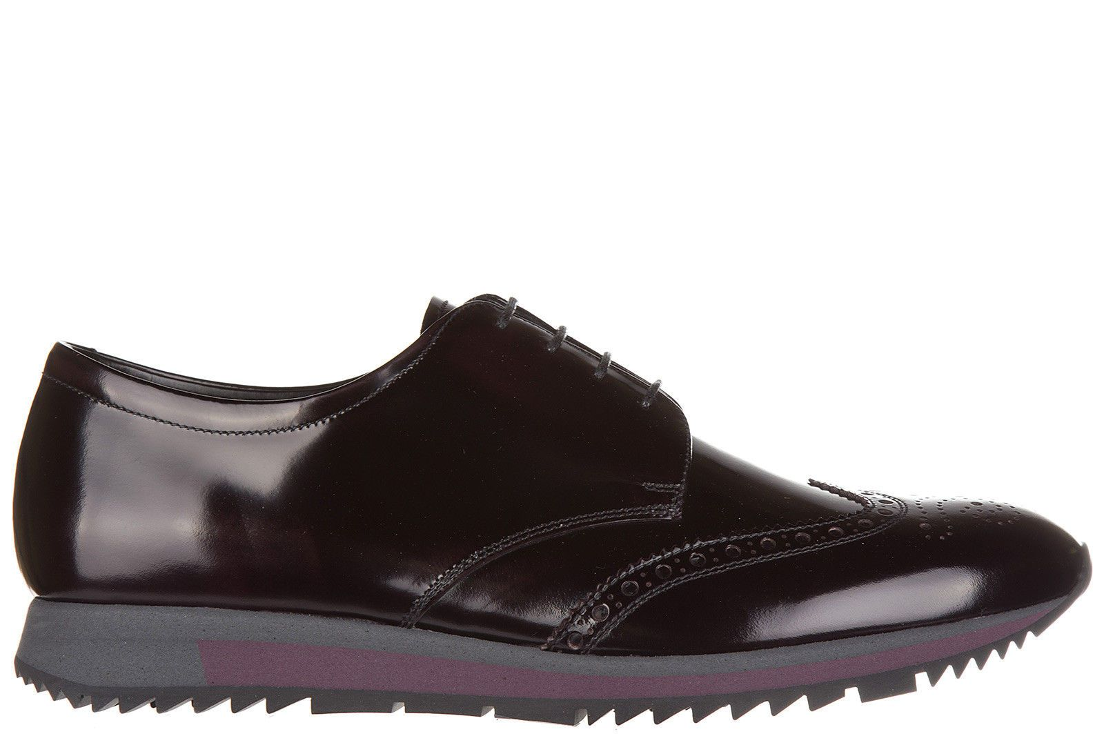 Brogues Oxford Shoes On Sale, Black, Leather, 2017, 7.5 Prada