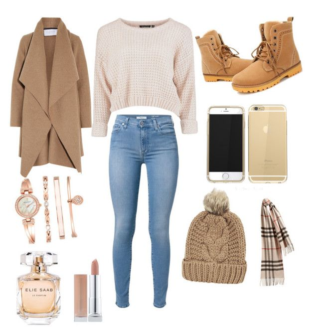 """cozy outfit"" by iconsoffashion ❤ liked on Polyvore featuring mode, Harris Wharf London, 7 For All Mankind, Anne Klein, Chicnova Fashion, Burberry et Elie Saab"