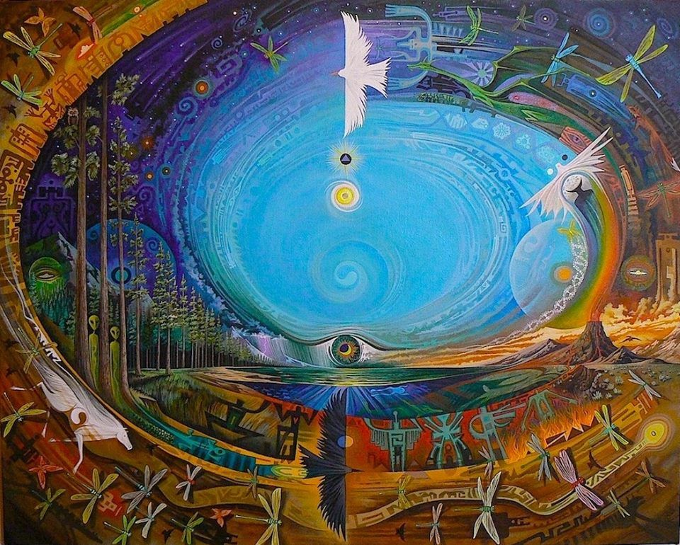 "spiritualevolution1111:    ""At the center of the universe dwells the Great Spirit. And that center is really everywhere. It is within each of us.""~ Black ElkArtist: Sam Brown"