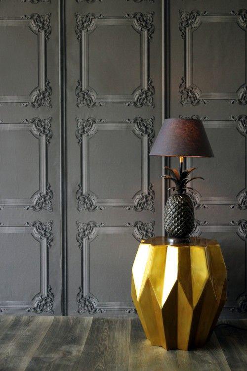 panel effect trompe l oeil wallpaper from www