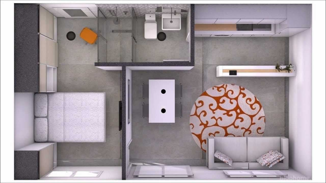 Tiny home plan less than 115 square feet minicasa 35m2 for 35m2 apartment design