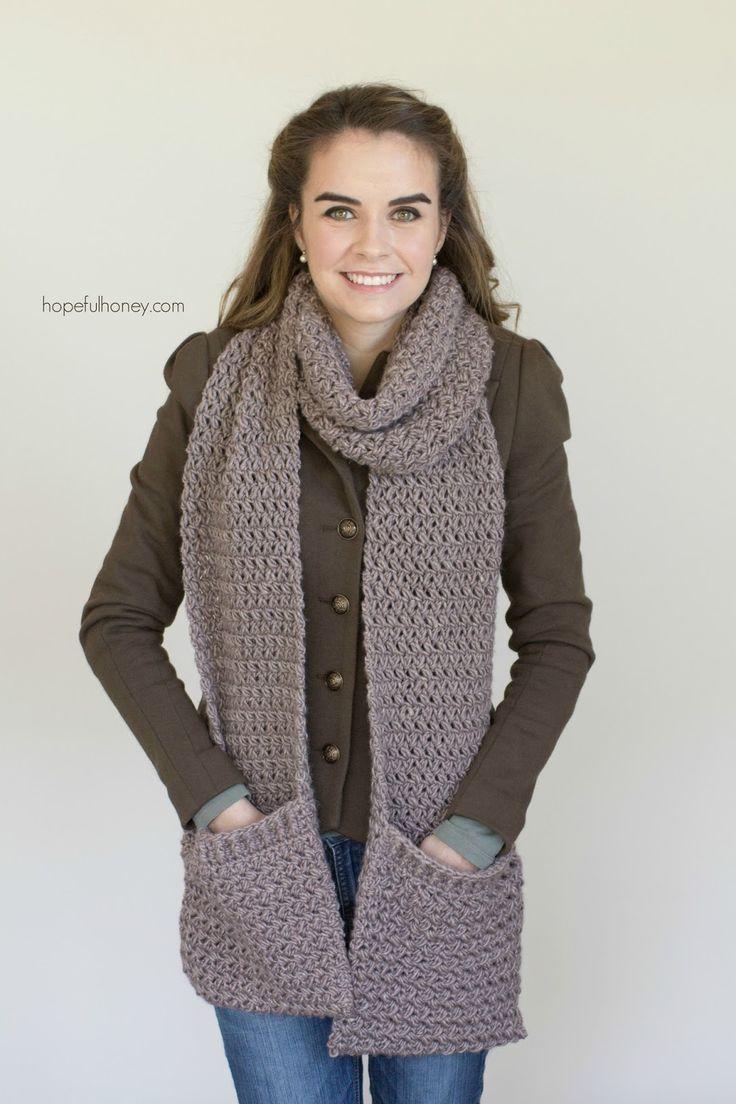Mulberry Shadow Pocket Scarf - Free Crochet Pattern   Pinterest ...