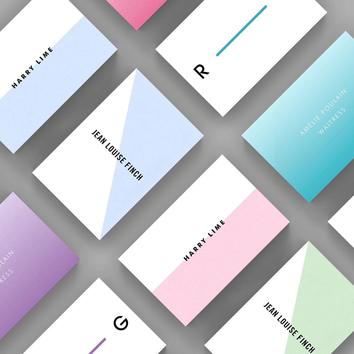 A selection of Contemporary business card templates available to ...