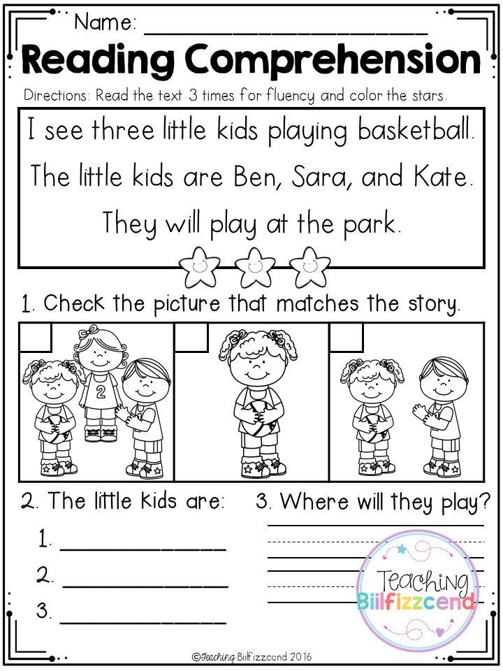 Free Kindergarten Reading Comprehension Set 2 Free Kindergarten Reading Reading Comprehension Kindergarten Reading Comprehension