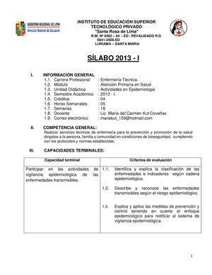 SILABO 2013 - EPIDEMIOLOGIA