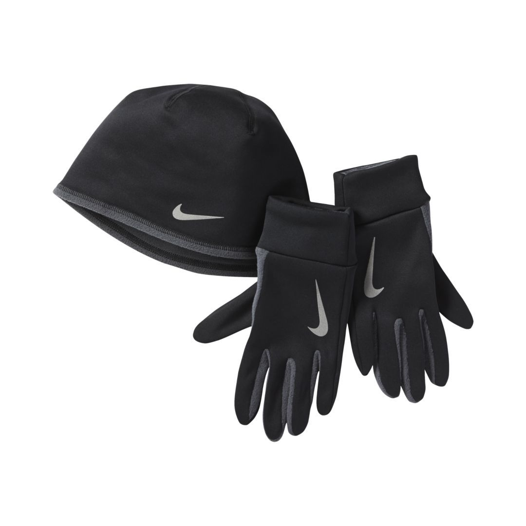 4735c5b4f07 Nike Run Thermal Men s Running Glove and Hat Set Size L XL (Black ...