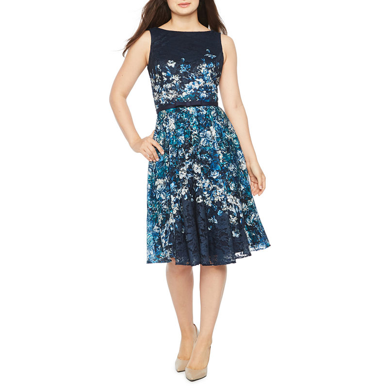 5bc7af2a9429 Danny & Nicole Sleeveless Lace Floral Fit & Flare Dress | Products ...