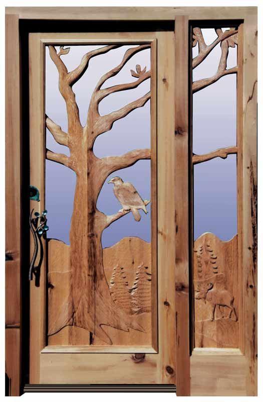 Carved Door - Bald Eagle \u0026 Moose In The American Wild - Scottsdale Art Factory & Carved Door - Bald Eagle \u0026 Moose In The American Wild - Scottsdale ...