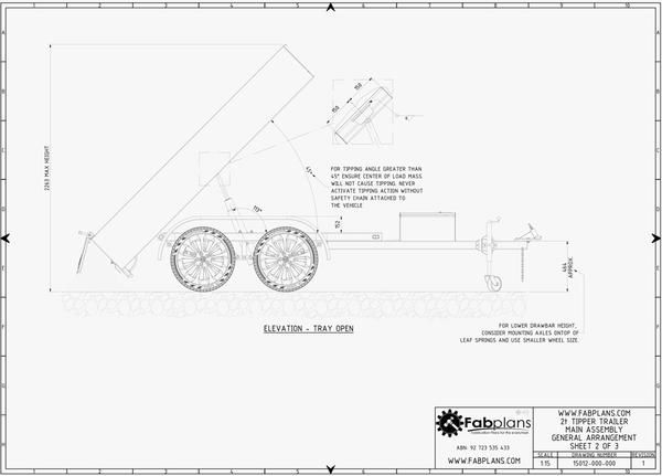 fabplans tipper trailer dump trailer blueprints