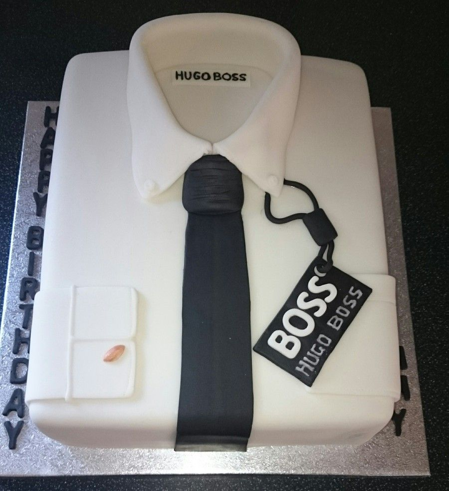 Hugo Boss Shirt Cake Cool Cakes Pinterest Boss Shirts Shirt