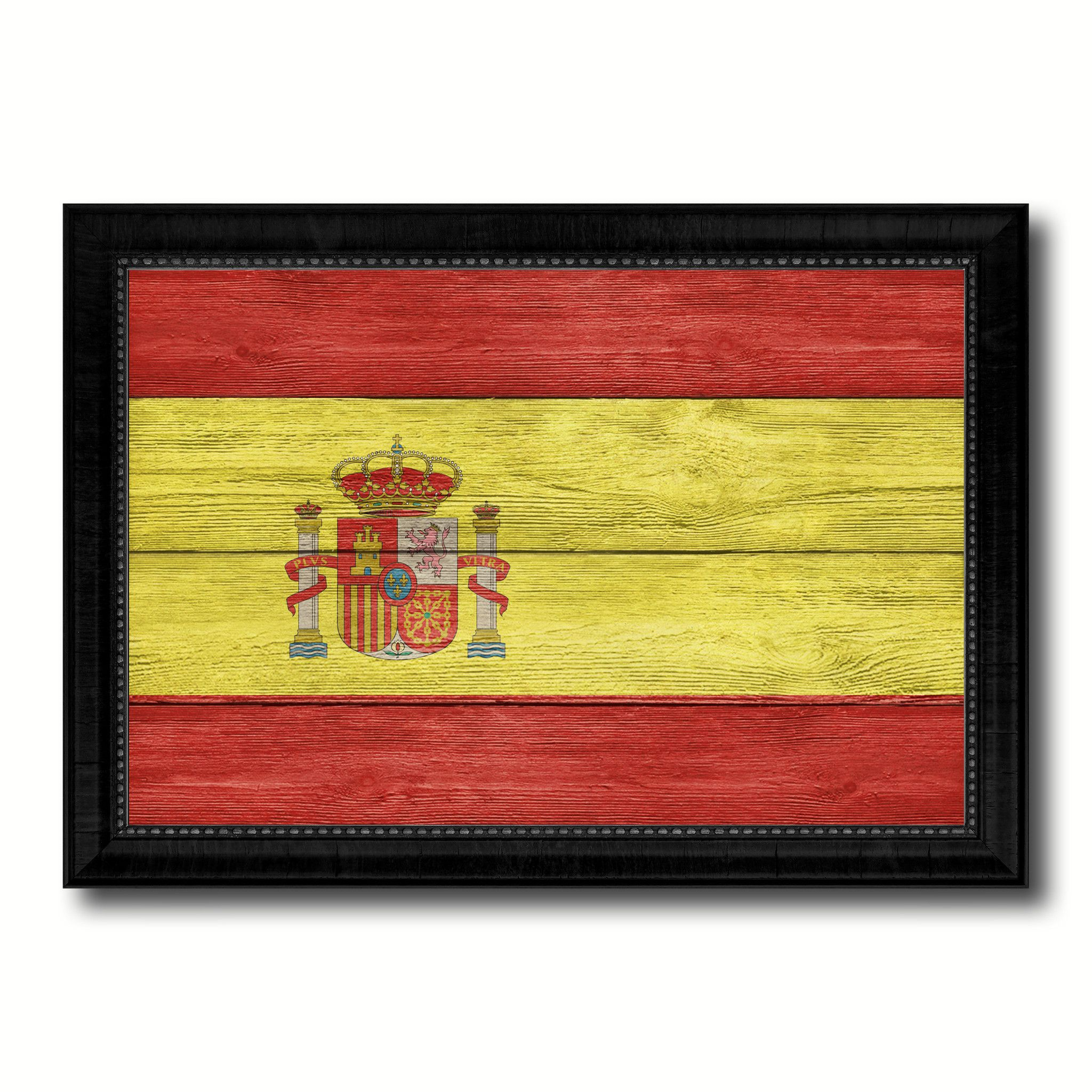 Spain Country Flag Texture Canvas Print, Picture Frame Home Décor ...