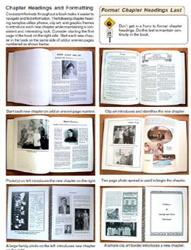 suggestions for formatting your family history book sharing