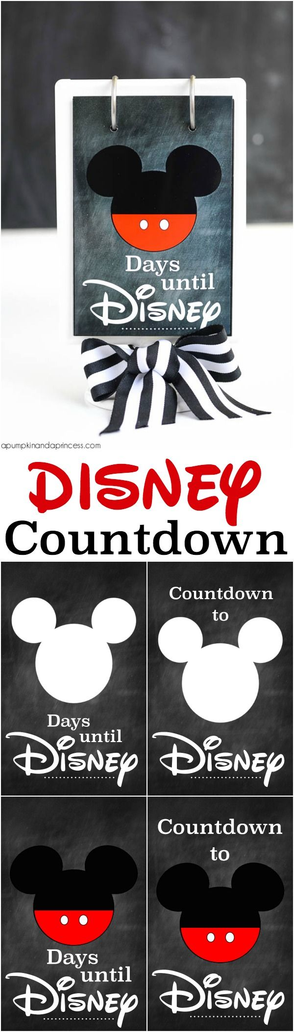 Disneyland Countdown Calendar  Designs By Nicolina Disney