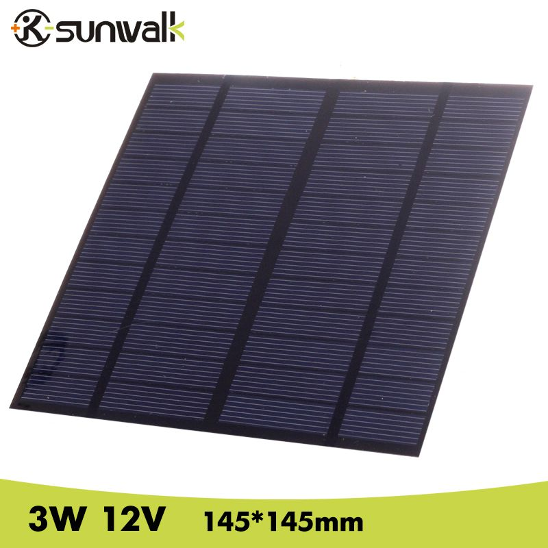 Sunwalk Solar Panel 12v 3w Eva Pet Solar Panel Mini Solar Cell Polycrystalline Silicon Solar Diy Module Mini Solar Panel Solar Energy Panels Best Solar Panels