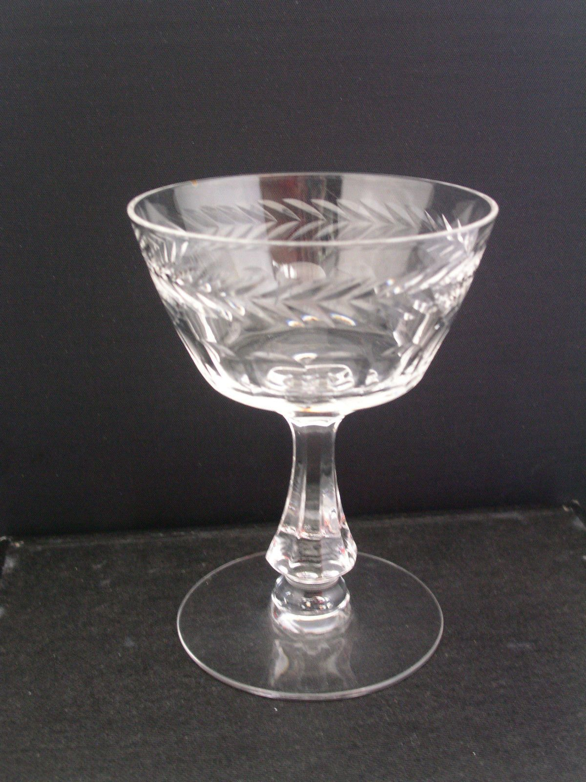 Vintage Amber Depression Glass Wine Goblet Square Bowl Smooth Stem Contemporary (1940-now) Glass