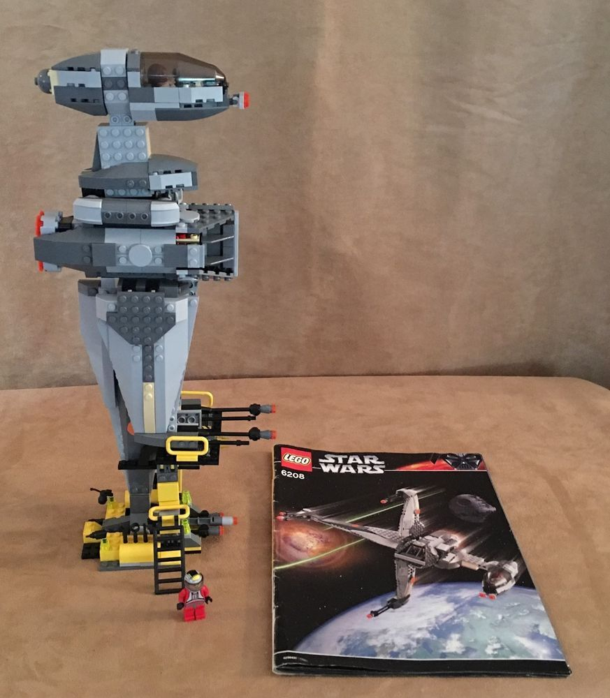6208 Lego Complete Star Wars B Wing Fighter Instruction Book Minifigures