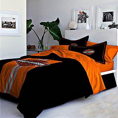 Harley Davidson King Size Blankets Bedding On Legend Comforter