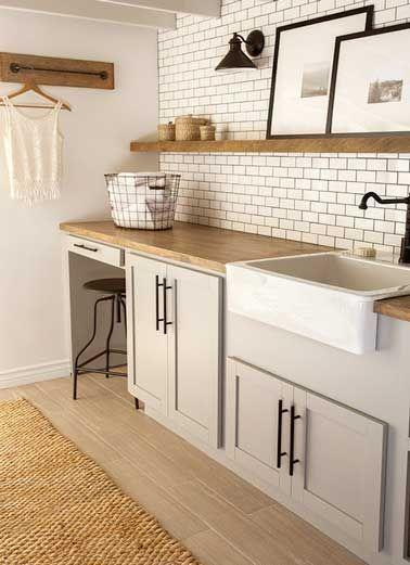 nice Idée relooking cuisine - Carrelage métro  Le style déco chic d - Idee Deco Cuisine Vintage