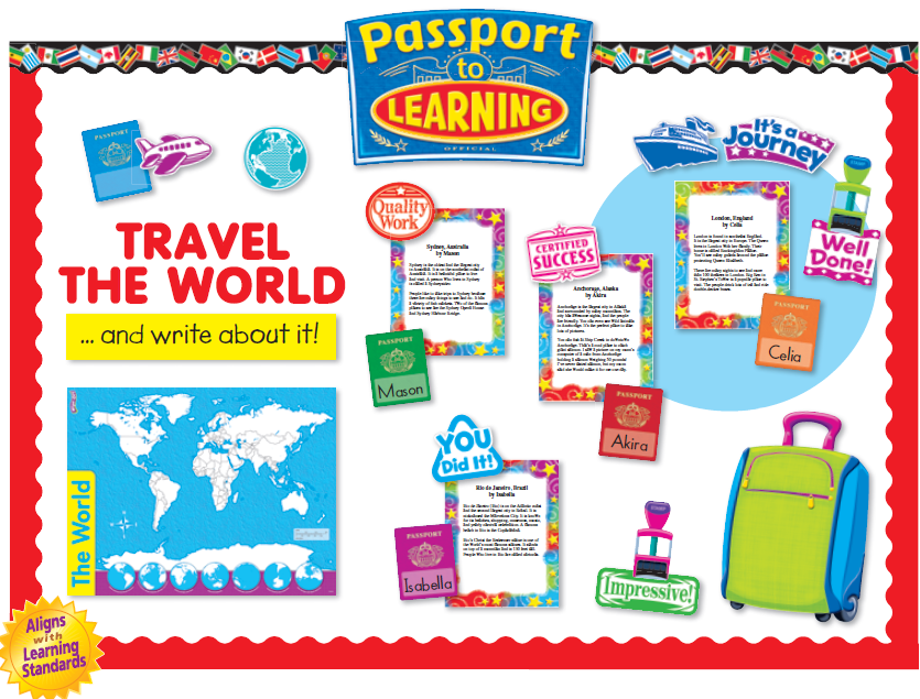 Passport To Learning bulletin board by Trend at www ...