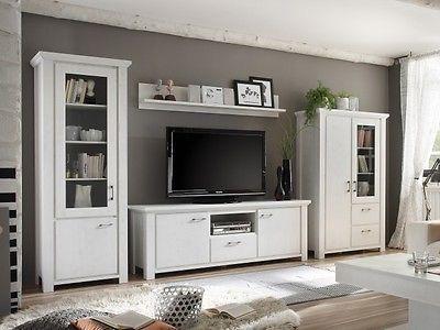 Wohnzimmer Schrankwände ~ Ebay angebot wohnwand dandy wohnzimmer komplett landhaus anbauwand
