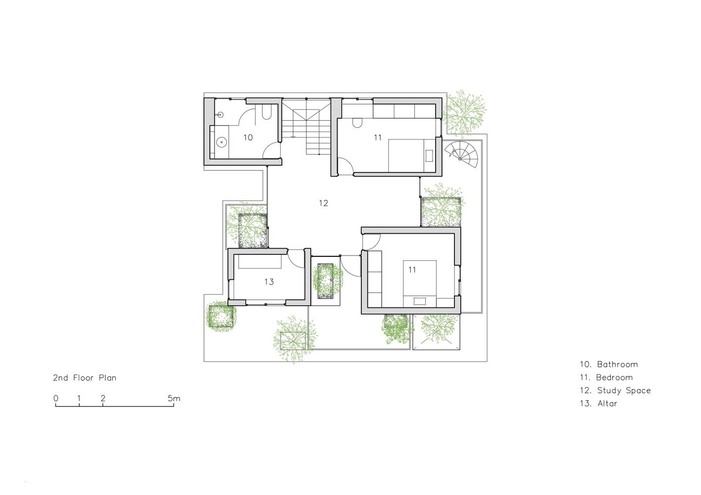 Gallery Of Stacked Planters House Vtn Architects 11 Architect Floor Plans Modern House