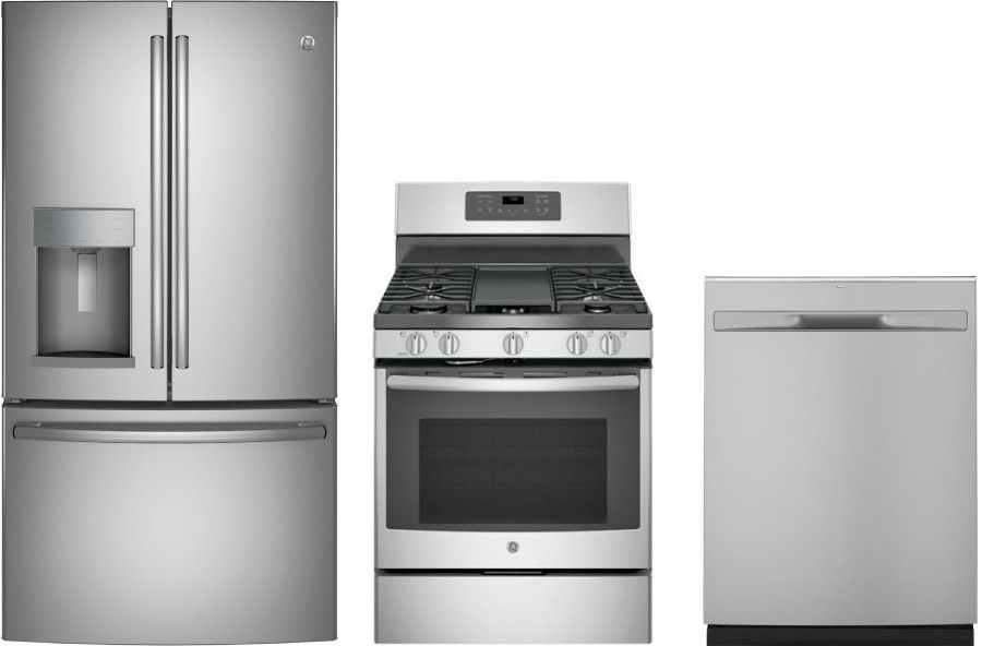 Ge 3 Piece Kitchen Appliances Package With French Door
