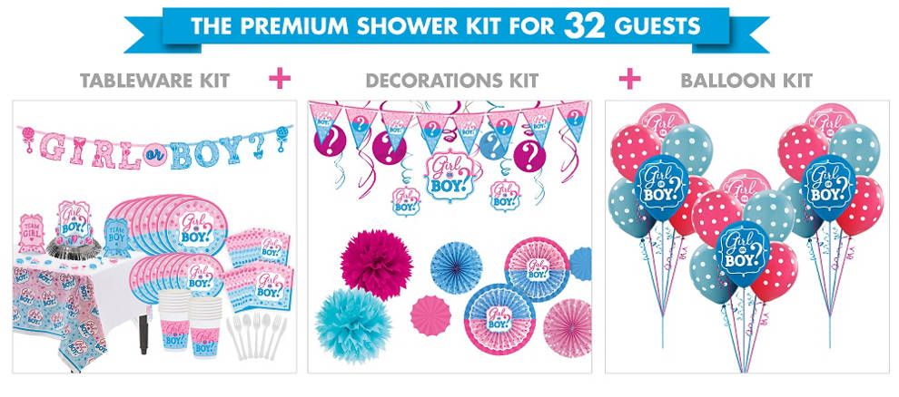 Girl or Boy Gender Reveal Party Balloon Kit 27ct - Party City Canada