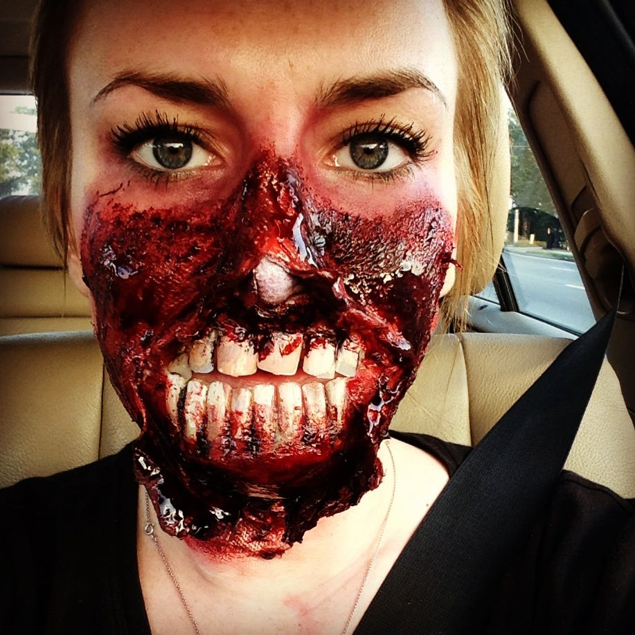 Special effects makeup done at Paul Mitchell the School