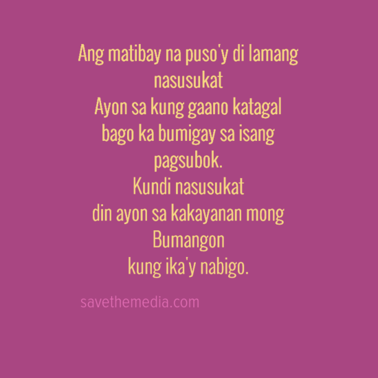 Broken Heart Quotes Tagalog - Save the Media | Tagalog Quotes ...